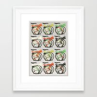 brompton Framed Art Prints featuring Folded Brompton Bicycle by Wyatt Design