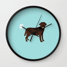 Chocolate Lab funny fart dog breed gifts labrador retrievers Wall Clock