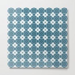 Abstract Moth - Blue Metal Print