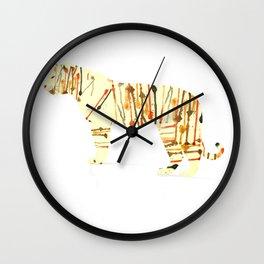 Watercolour Tiger Wall Clock
