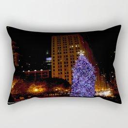 Christmas Light Towers (Chicago Christmas/Holiday Collection) Rectangular Pillow