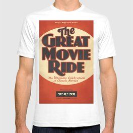 Great Movie Ride TCM Poster T-shirt