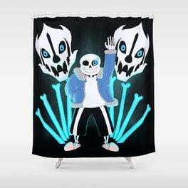 Sans the Skeleton Shower Curtain