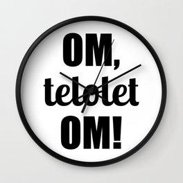 Om Telolet Om Wall Clock