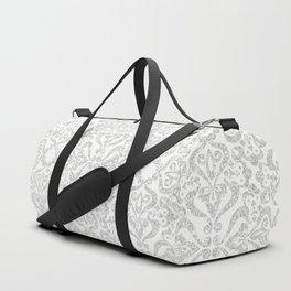 Damask Grey Dawn Duffle Bag