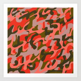 Coral Camouflage 2 Art Print