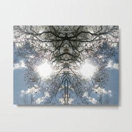 Twit Twoo Twigs Metal Print
