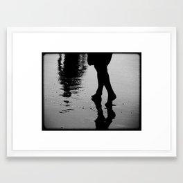Wet Steps Framed Art Print