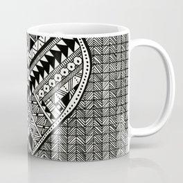 Modern, black and white, geometric shaped heart Coffee Mug