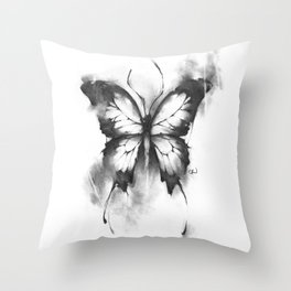 The Death of a Butterfly Throw Pillow