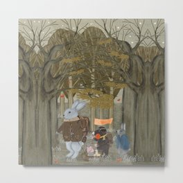 a little woodland adventure Metal Print