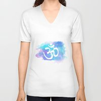 om V-neck T-shirts featuring Om by Ashley Hillman