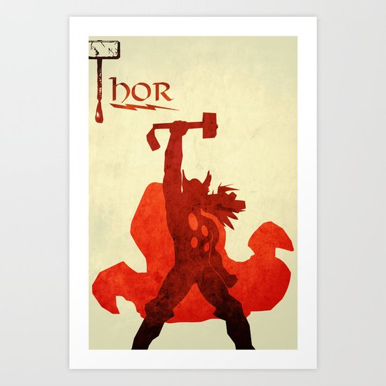 The Avengers Thor Art Print