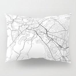 Potsdam Map White Pillow Sham