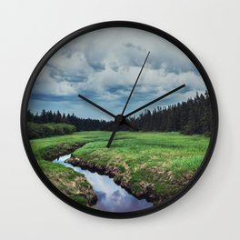 Threatening Stream Wall Clock