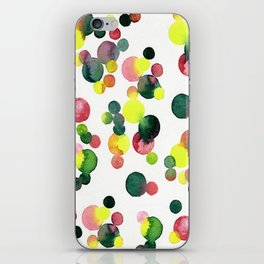 no,634v- Multi red, pink, green and yellow dots iPhone Skin