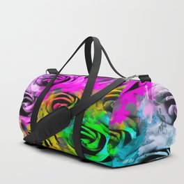 rose texture abstract  with colorful painting abstract background in pink blue yellow green Duffle Bag