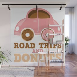 Road Trips And Donuts Wall Mural
