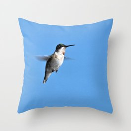 Juvenile Ruby-Throated Hummingbird Throw Pillow
