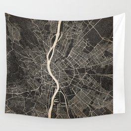 budapest map ink lines Wall Tapestry