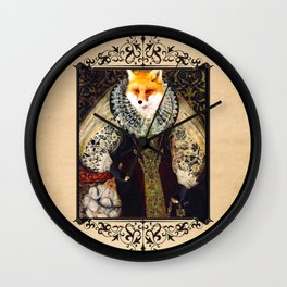 Elizabeth I Fox Poster Wall Clock