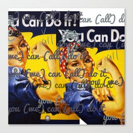We Can All Do It Canvas Print
