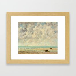 The Calm Sea - Gustave Courbet Framed Art Print