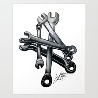 tool Art Prints featuring Tool by LewisLeathers