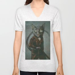 Samurai Kitty Unisex V-Neck