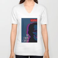great gatsby V-neck T-shirts featuring Great Gatsby by Ryan W. Bradley