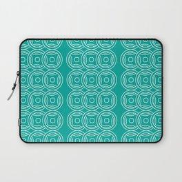 Ancient Chinese Money Stock Stripe Geo Pattern Green Laptop Sleeve