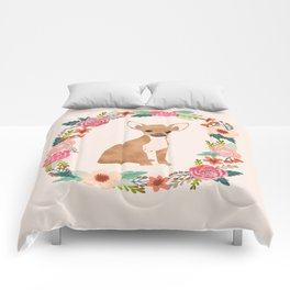 chihuahua floral wreath flowers dog breed gifts Comforters