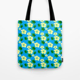 Yellow Hibiscus Hawaiian Pattern Tote Bag