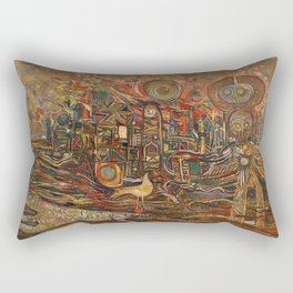 African-American Classical Masterpiece ' The End of the Beginning' by Alexander Skunder Boghossian Rectangular Pillow