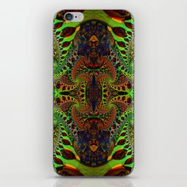 Psychedelic Fractal Geometry - different perspective iPhone Skin
