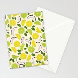 Lime Lemon Coconut Mint pattern Stationery Cards