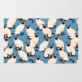 Siamese Cats Rug