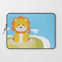 Lion in the savannah Laptop Sleeve
