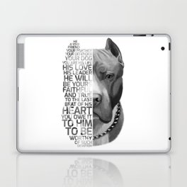 Pit Bull Print, Pit Bull Quote, Pit Bull Gift, Text Dog Portrait, Dog Art, Dog Quotes Print, Text Do Laptop & iPad Skin