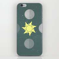 moon phases iPhone & iPod Skins featuring Phases by Shelby Thompson