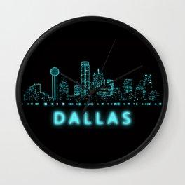 Digital Cityscape: Dallas, Texas Wall Clock