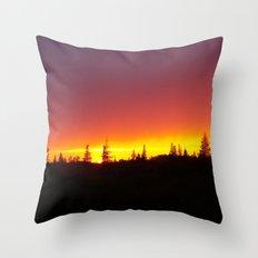 Striking Sunset Throw Pillow