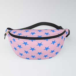 Brandeis Blue on Cotton Candy Pink Stars Fanny Pack