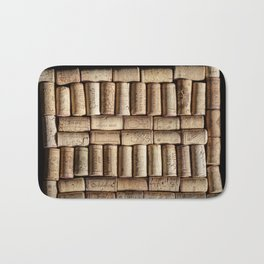 Wine corks close up Bath Mat
