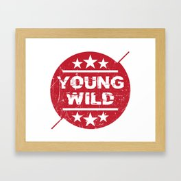 Young wild Framed Art Print