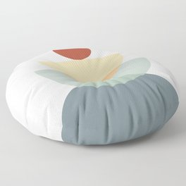 Abstraction Shapes 11 in Neutral Shades (Sun and Moon Phases) Floor Pillow