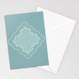 Peaceful blue gray Stationery Cards