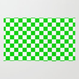 Green checkerboard background Rug