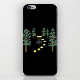 Disc Golf Stupid Trees Woods Men Women Court Gift iPhone Skin