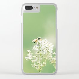 Bee on Flower Clear iPhone Case